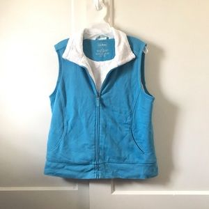 Blue vest with fur lining